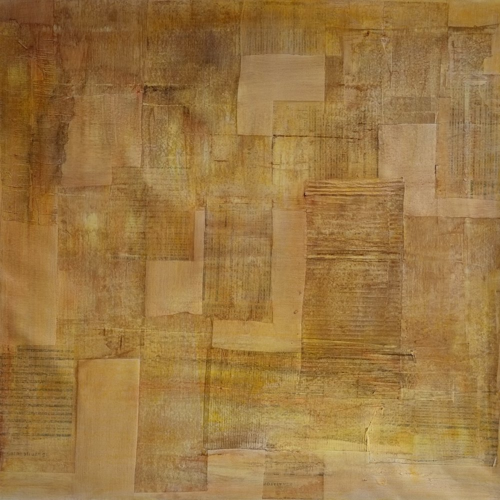 untitled; mixed media on linen; 90x90; 2018