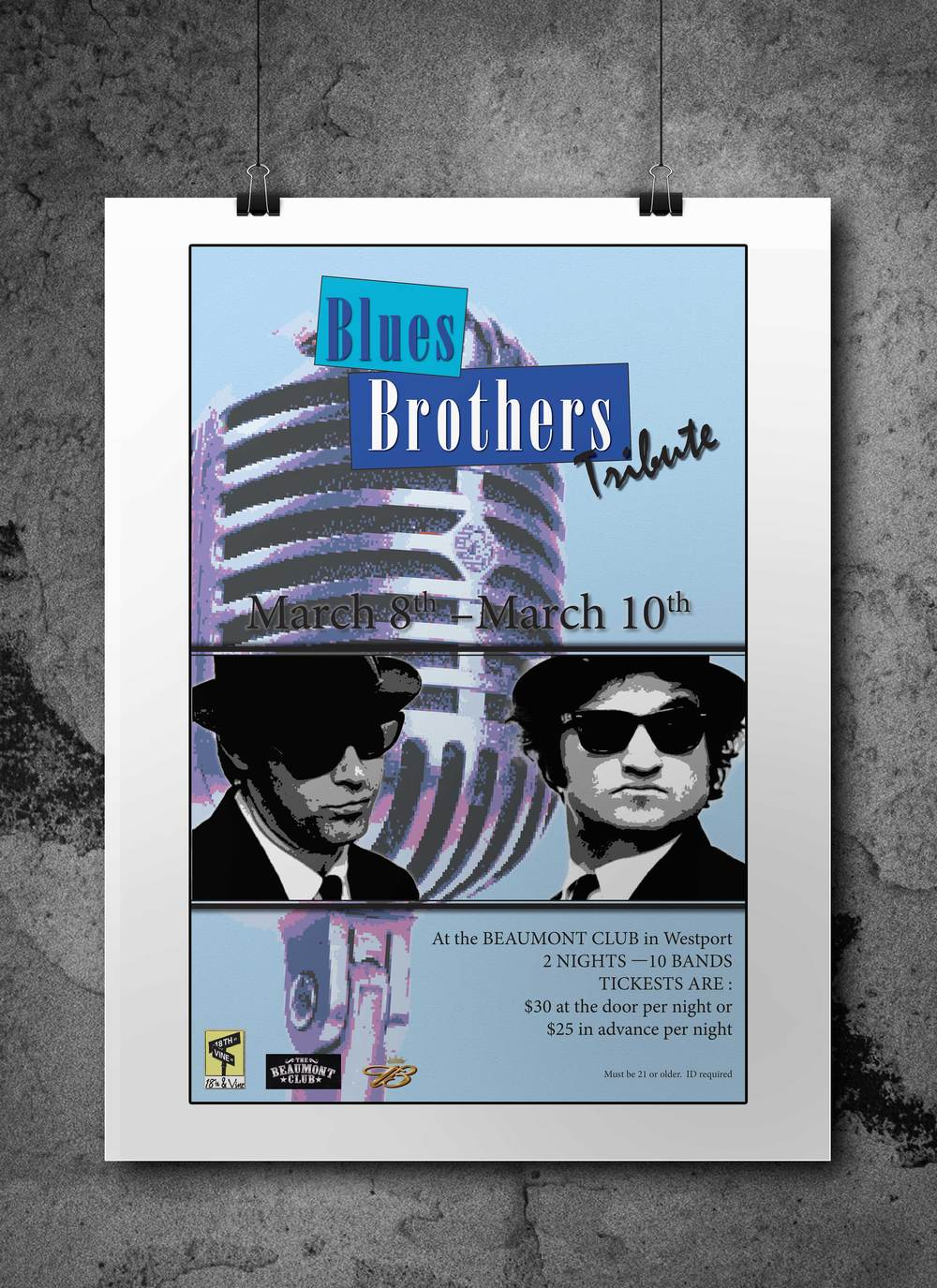 Blues Brother Concert Poster