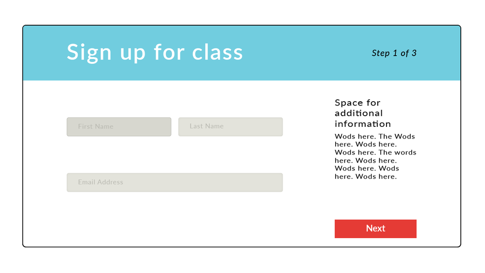 One of the technical requirements of the project was the ability to sign up for classes through the site.
