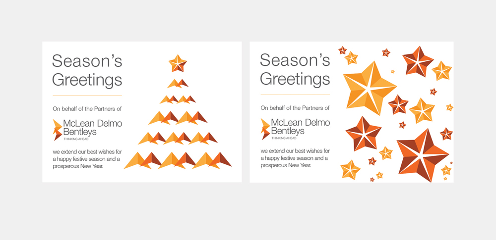 gray design mclean delmo bentleys christmas card