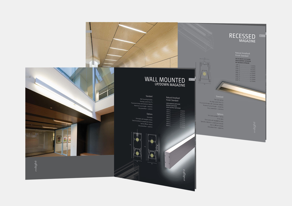 gray design mlight brochure