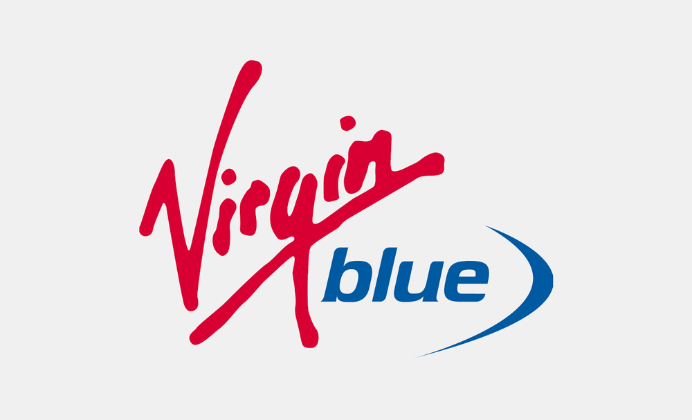 gray design virgin blue logo