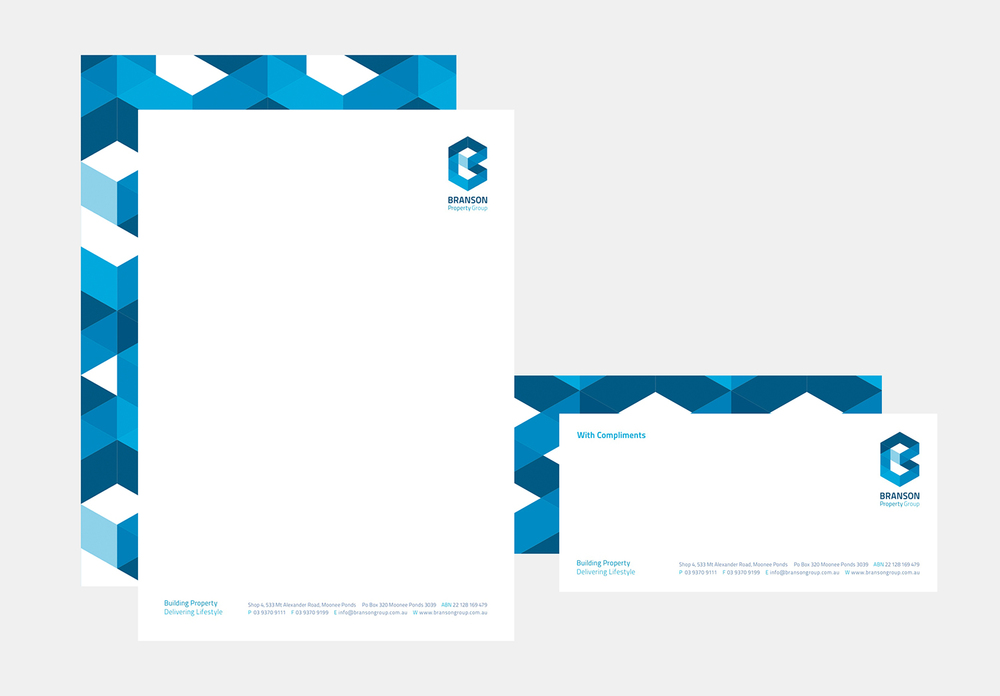 Gray Design Branson Property Group stationery