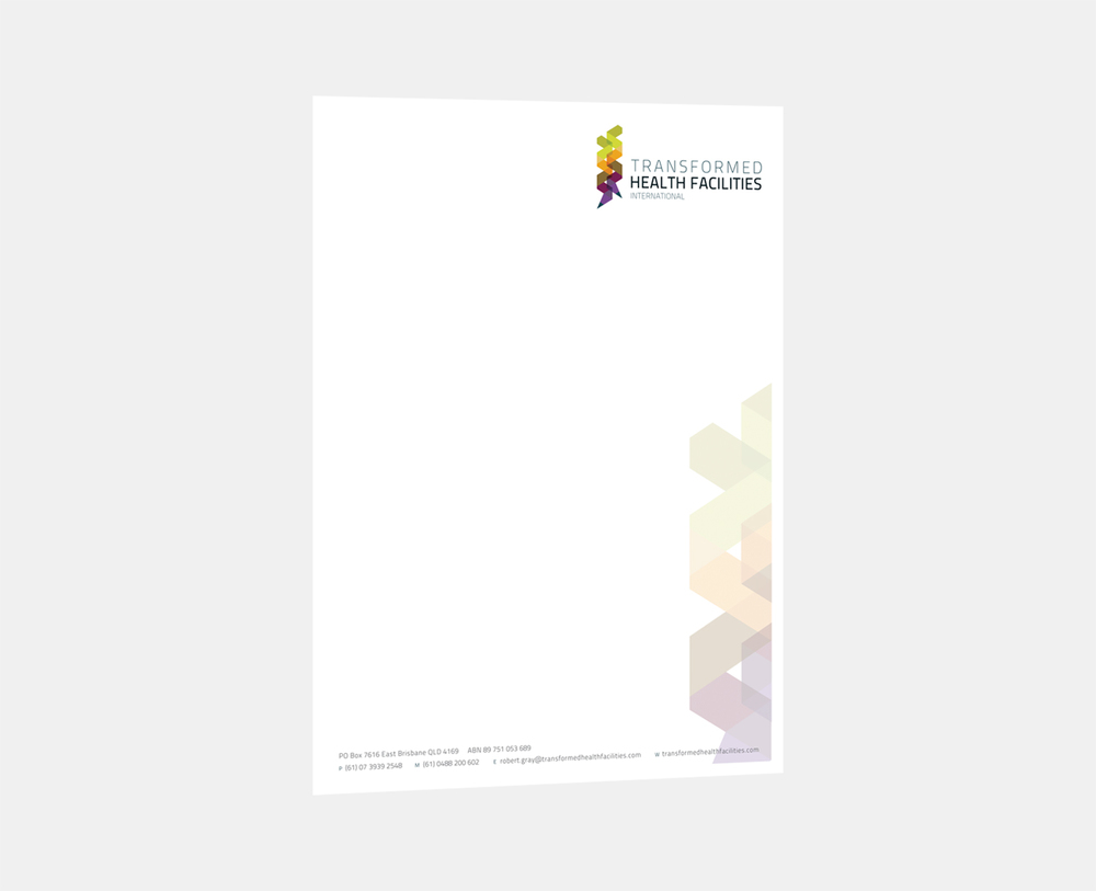 Gray Design transformed health letterhead
