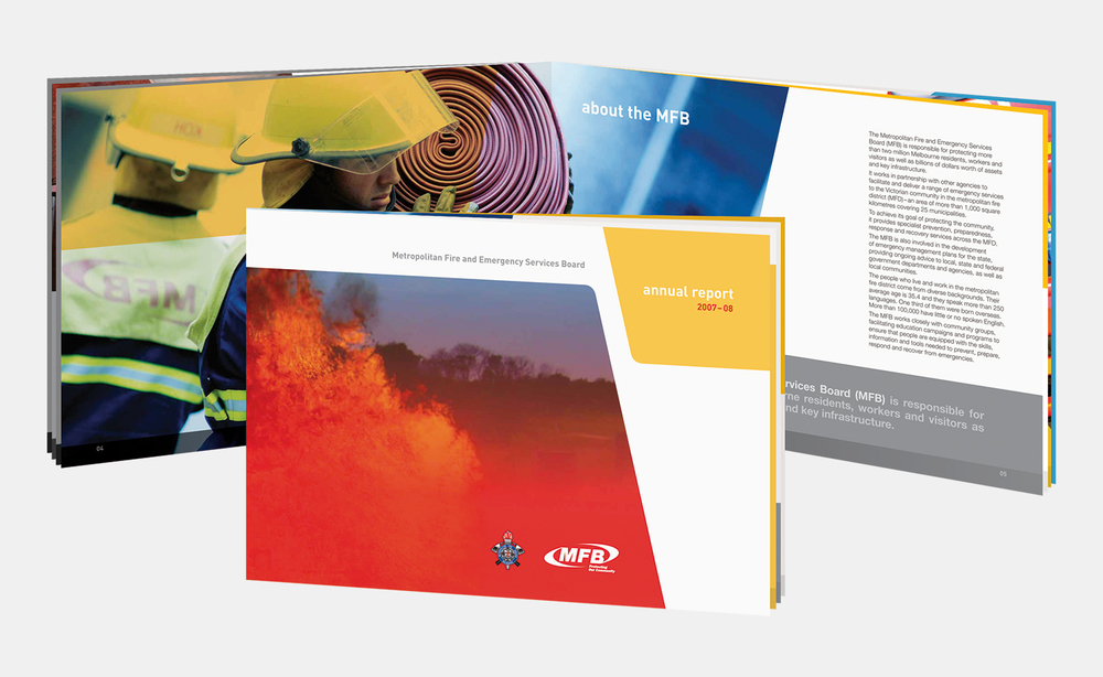 Gray Design Metropolitan Fire Brigade Annual report