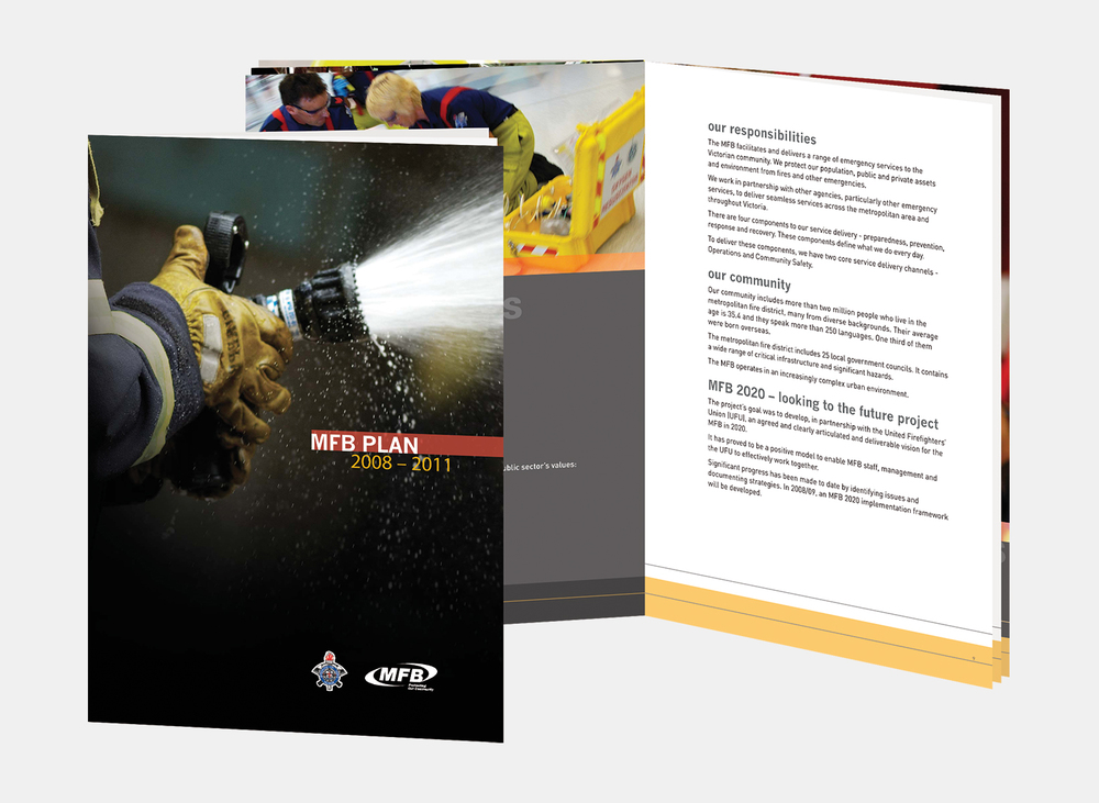Gray Design Metropolitan Fire Brigade Brochure