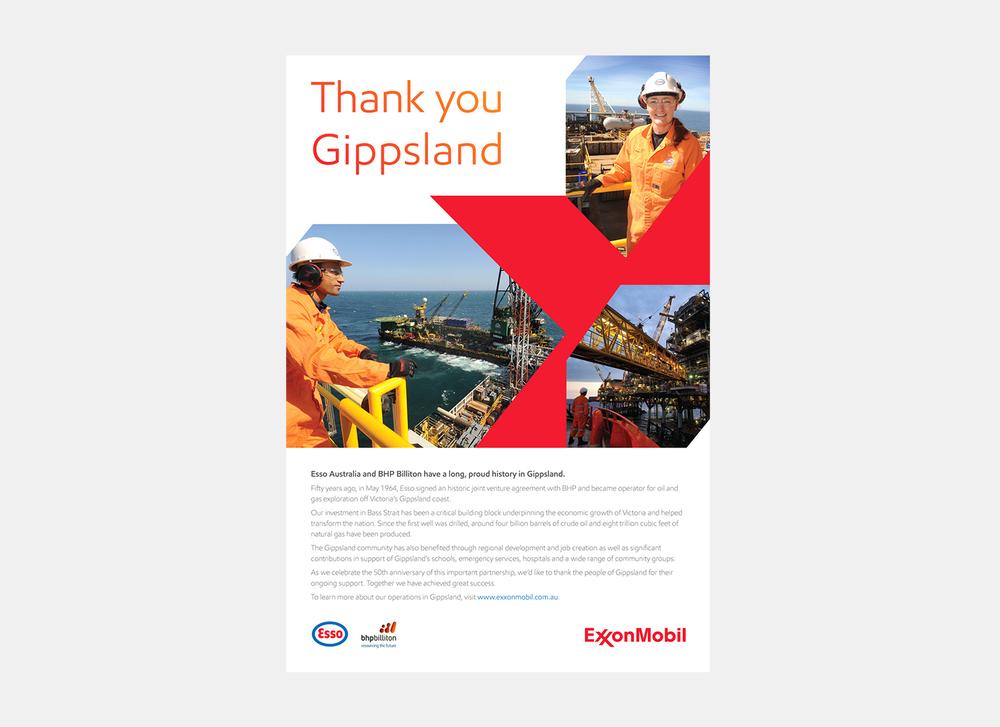 Gray Design ExxonMobil Advertisment