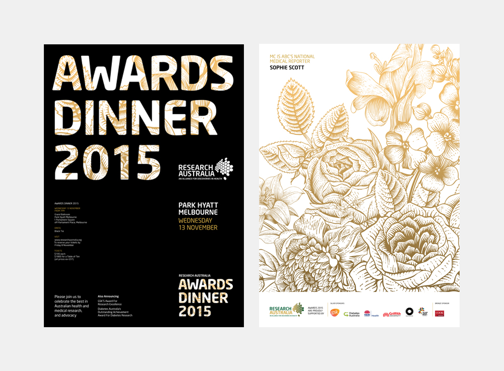 Gray Design Research Australia Awards Dinner Invite