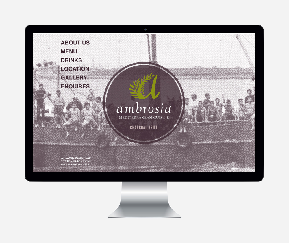 Gray Design ambrosia website design