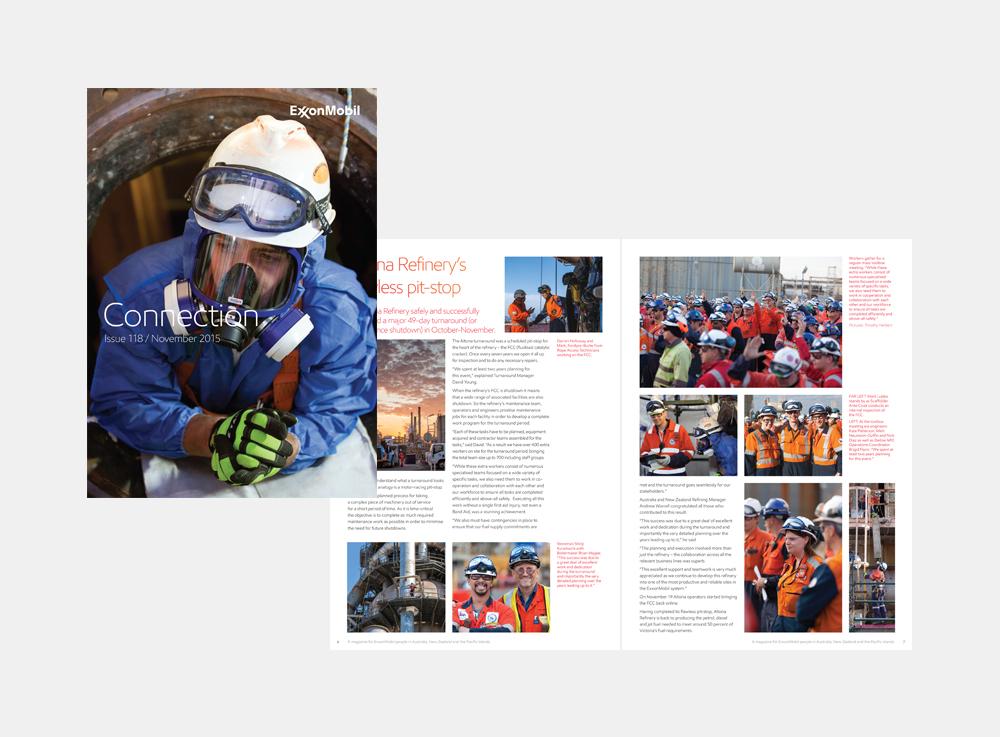 Gray Design ExxonMobil Newsletter Magazine