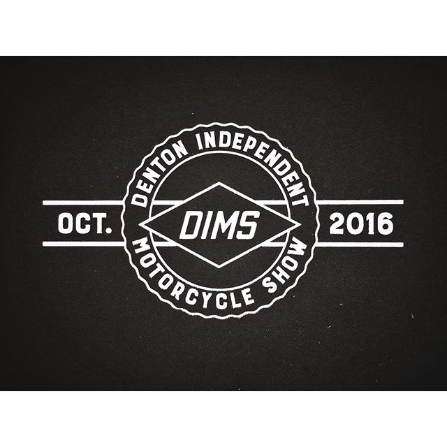 Today is the @dentonmotorcycleshow pre-show at @cyclecentermoto. We're excited to have printed their very first run of shirts a few months ago, go see them today and check out some rad bikes.