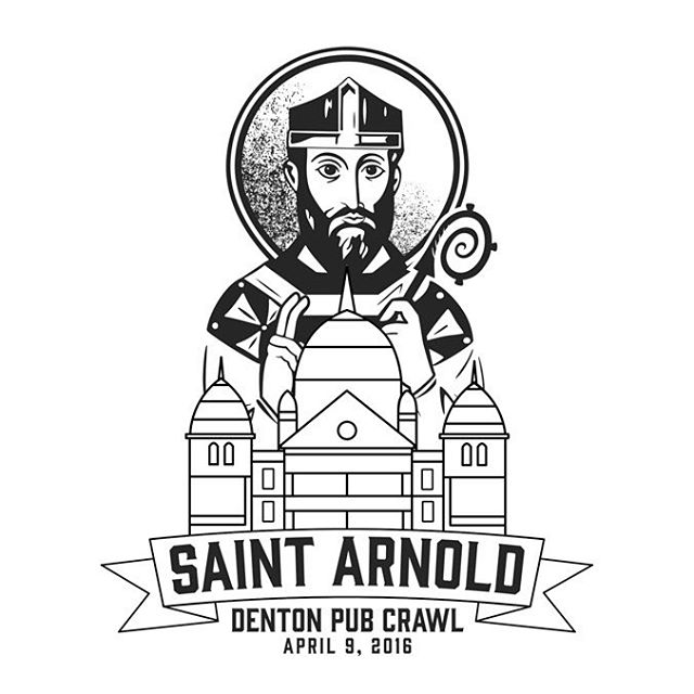 Get ready to crawl, Denton! Don't forget to grab a commemorative shirt.  Design by: @saintarnoldbrewing