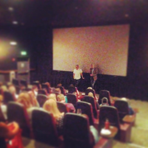 Director & Producer James Demo & Padraig O'Malley during the Q&A after The Peacemaker at The Warwick Theatre.