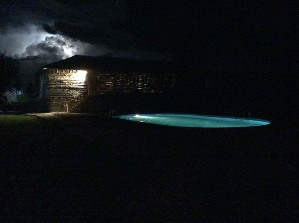 Karaoke in the barn, pool, and lightening to cheer them on!