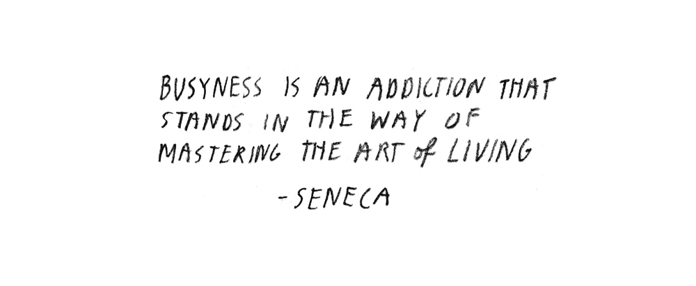 Seneca Quote Busyness Addicition Phone Light