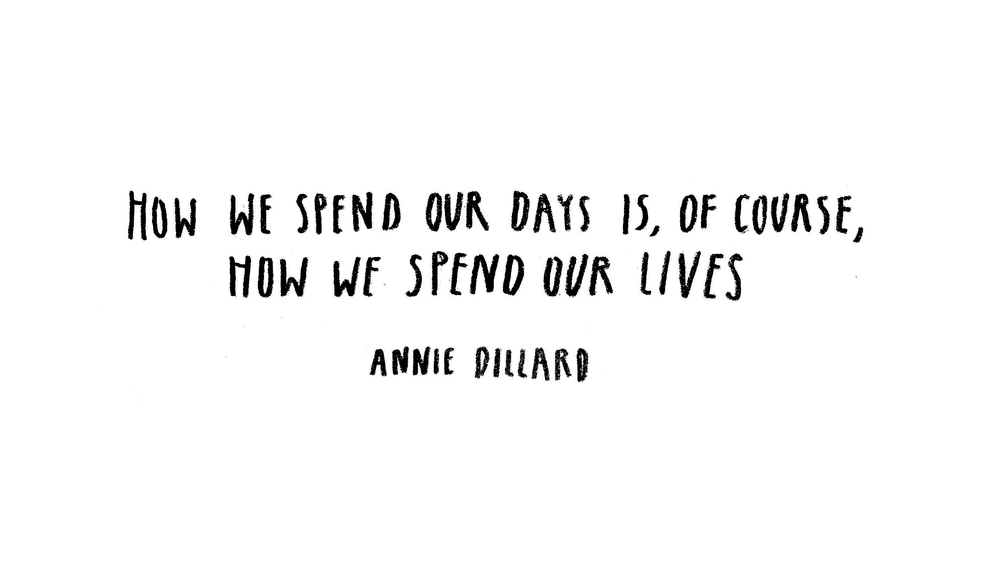Over Connected Over-connected Annie Dillard Quote