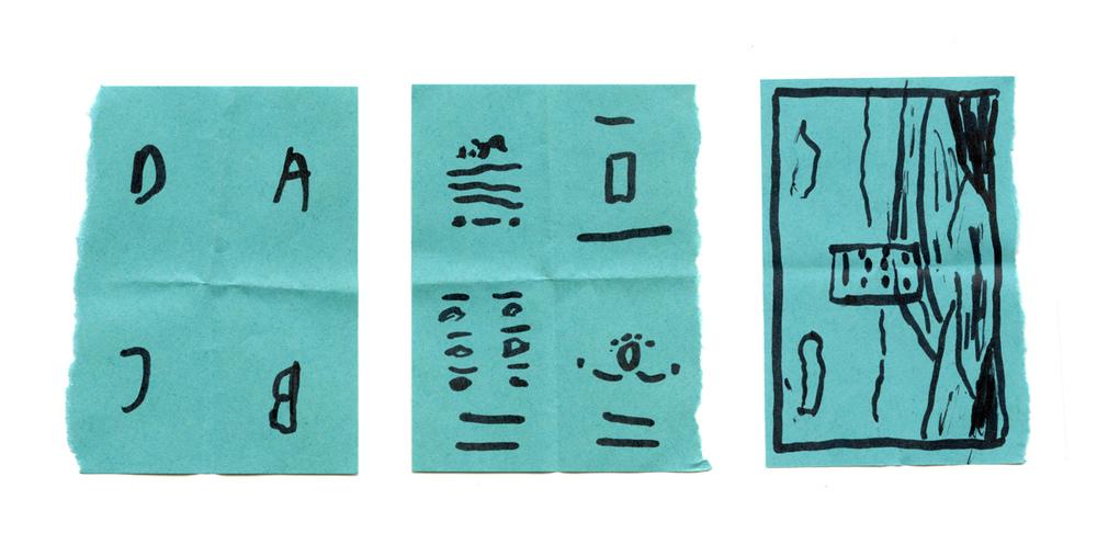 mock test design newsprint poster phone