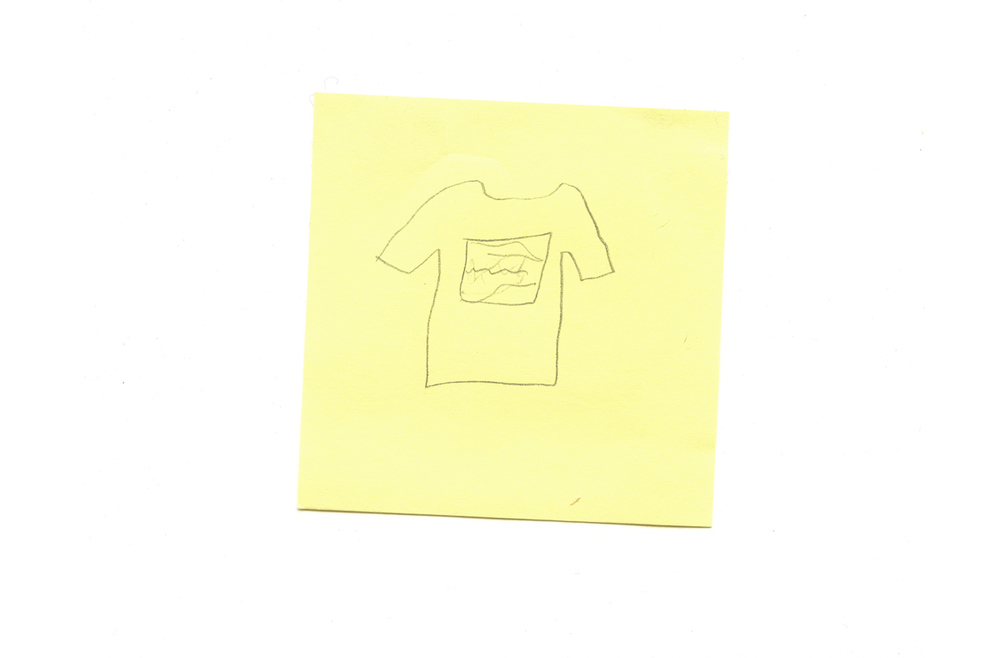 Light Shirt Sketch Design Post It Simple