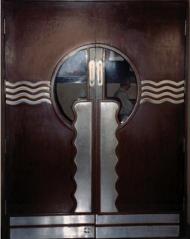 Steamship age door design new empire cinema in art deco for Art deco interior doors home
