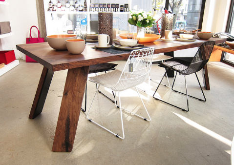 Custom walnut table by Christian Woo Interiors