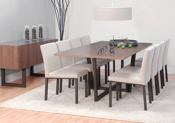 Arca table, Basso Chair and Urbana Buffet -Signature collections from Tricafurniture.com