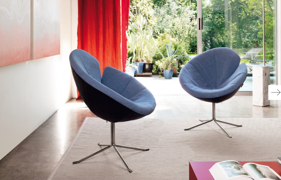 One Flo chair (Desiree Divani collection Italy) at Bloom Furniture Vancouver.  Photo Gruppoeuromobil.com