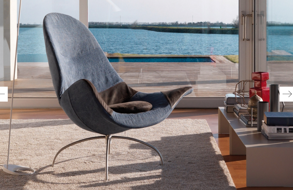 Cloe Chair (Desiree Divani collection Italy) at Bloom Furniture Vancouver.  Photo Gruppoeuromobil.com