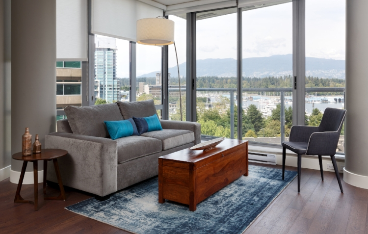 Condo design in Coal Harbour completed for Corporate Rental