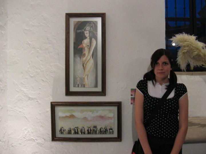 En la universidad cuando estudiaba arte, 2006 (creo)