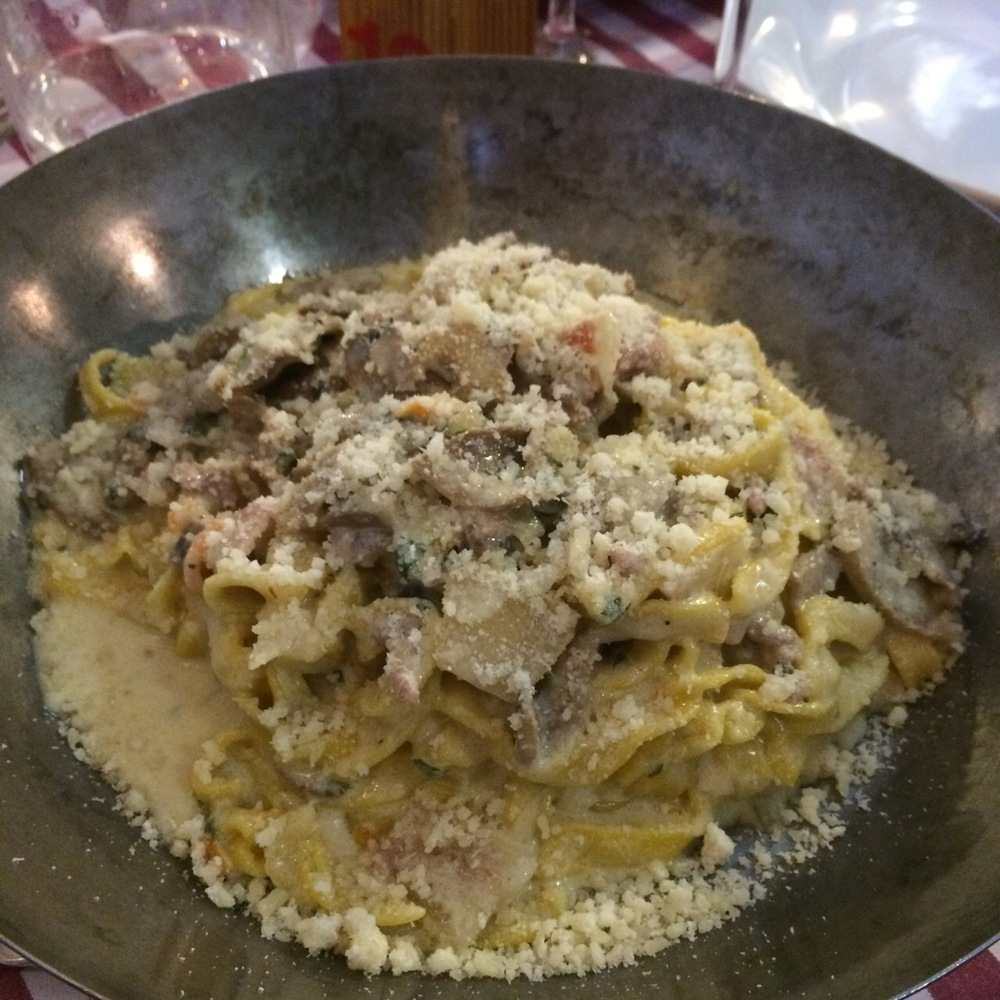 a creamy carbonara of sorts