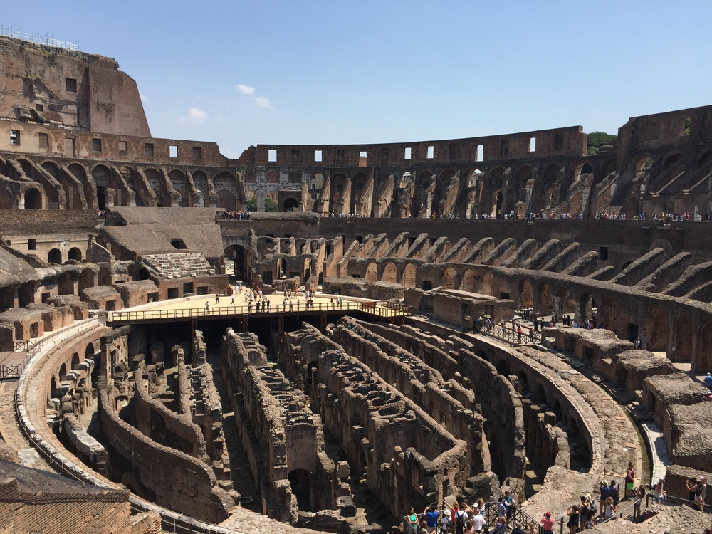 inside The Colosseum - such history, so many stories lie here