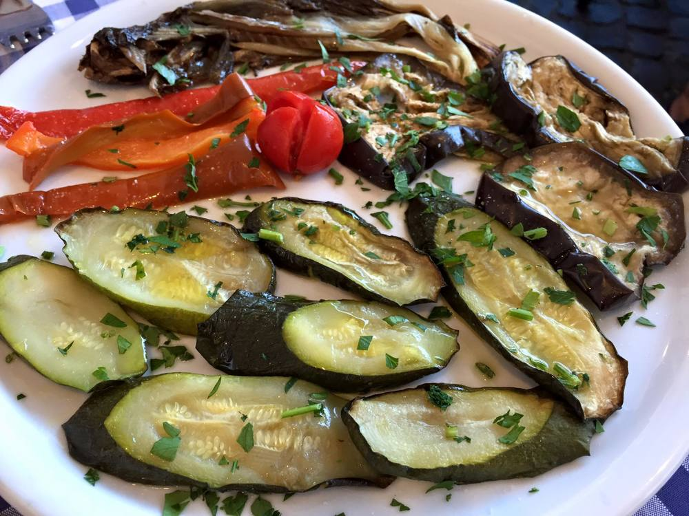 simple grilled vegetables to start
