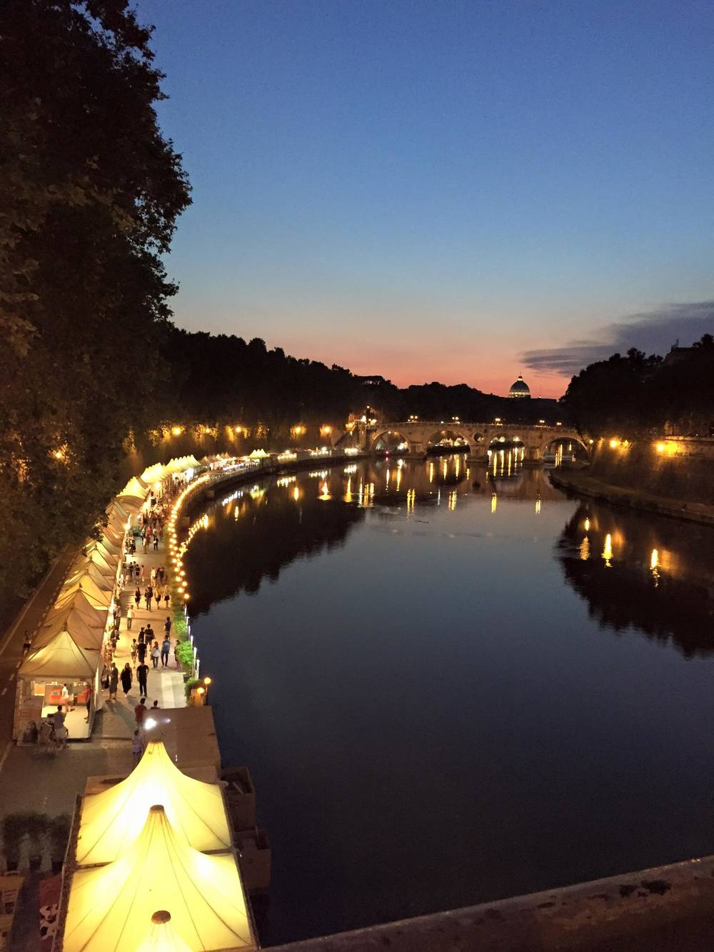 the summer night markets in Rome