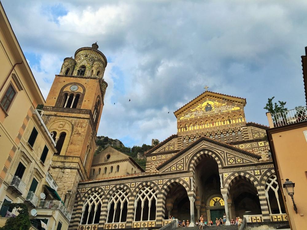 the main church in Amalfi