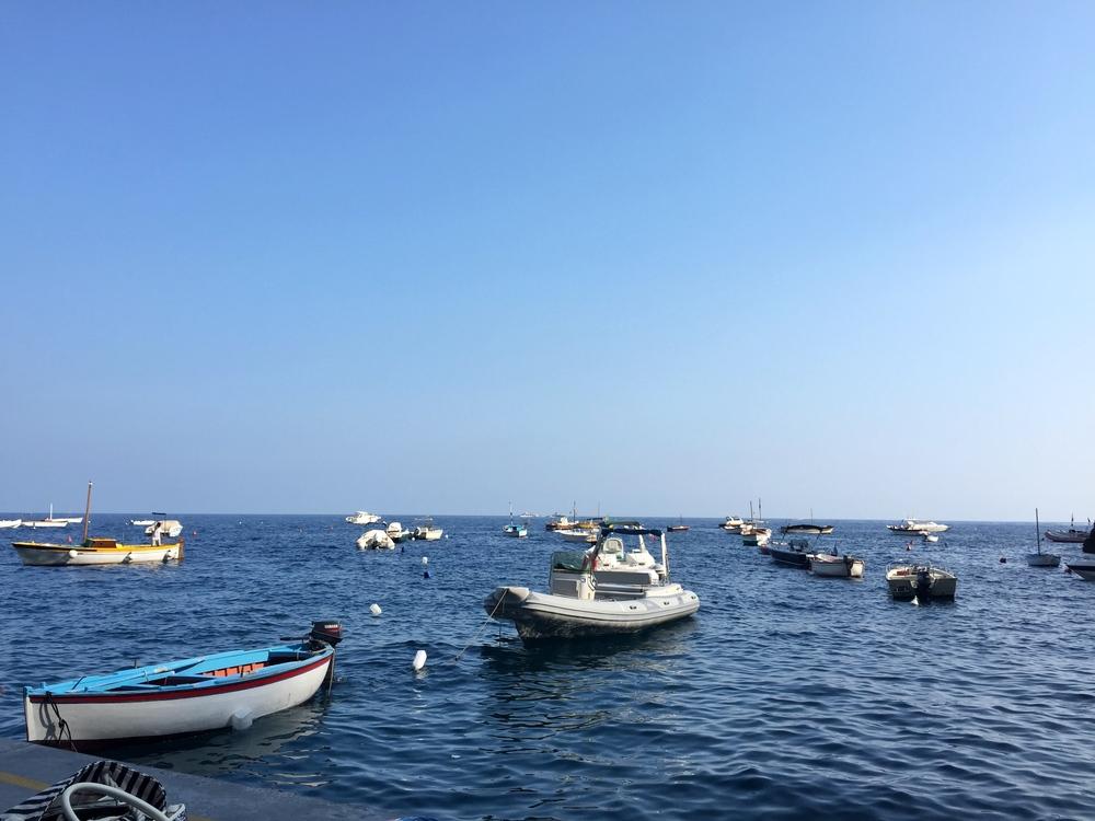 pretty boats moored