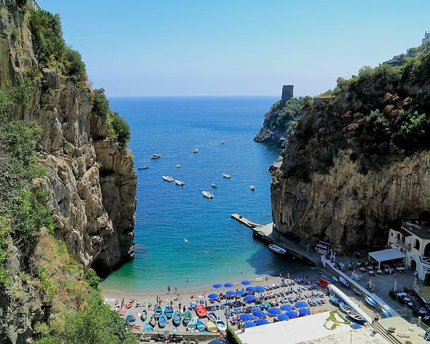 Viewing Marina di Praia from the top - photo from www.positano.com