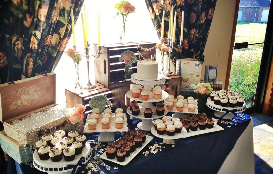 Custom Gourmet Cupcake Display