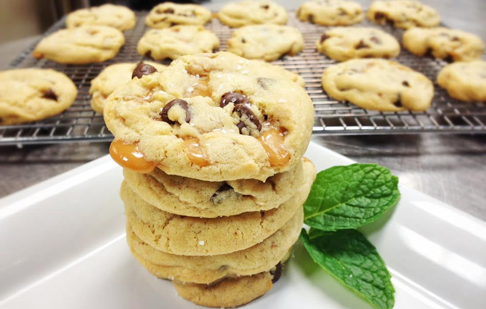 Signature Salted Caramel Chocolate Chip Cookies