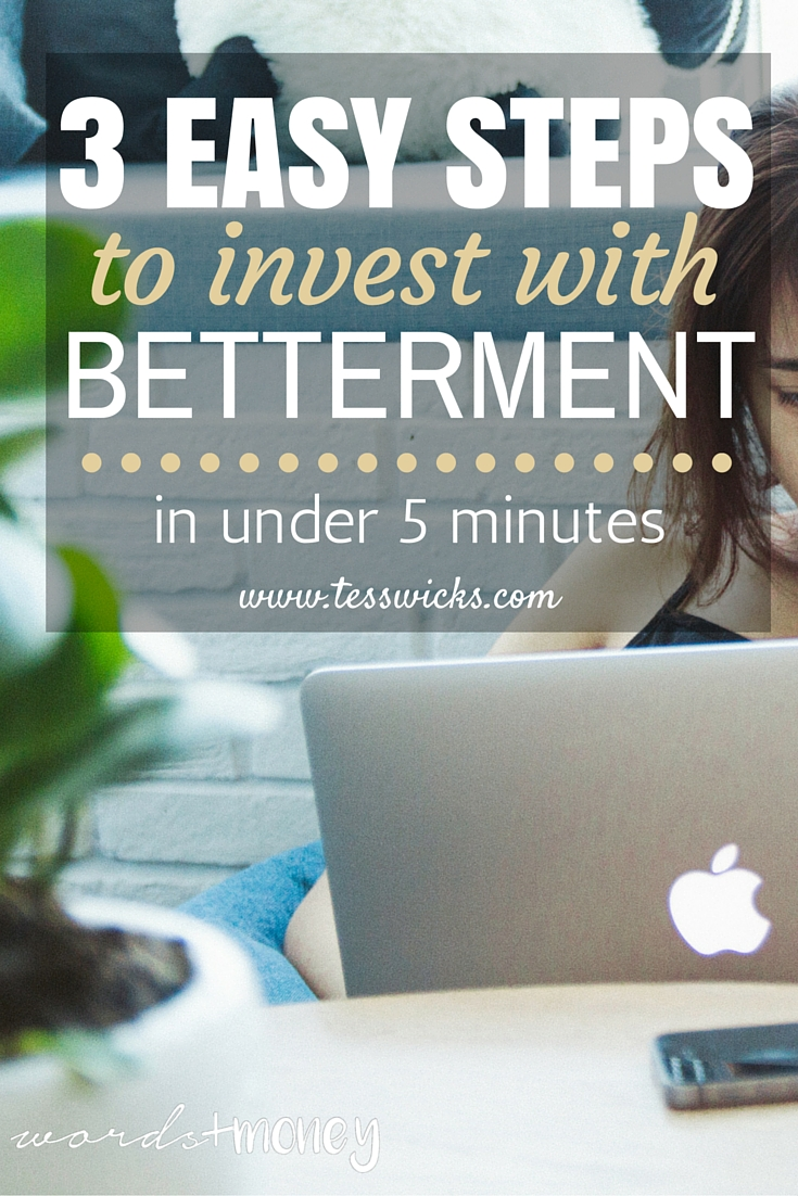 3 steps to set up an investment account with Betterment