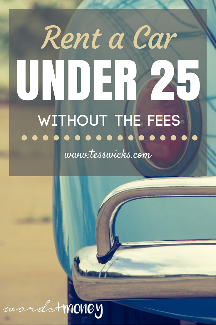 Rent a Car Under the Age of 25 Without the Fees! (Plus, great deals if you are over or under 25)