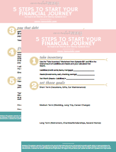 Get the 5 Steps Checklist to get started on your Financial Journey on the Words and Money Podcast!