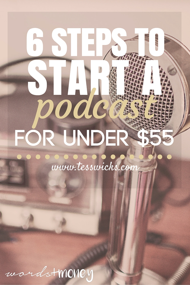 Get these 6 Simple Steps to Start a Podcast for under $55. A detailed depiction of what you need to know to get started (what other professionals would make you pay for to learn!)