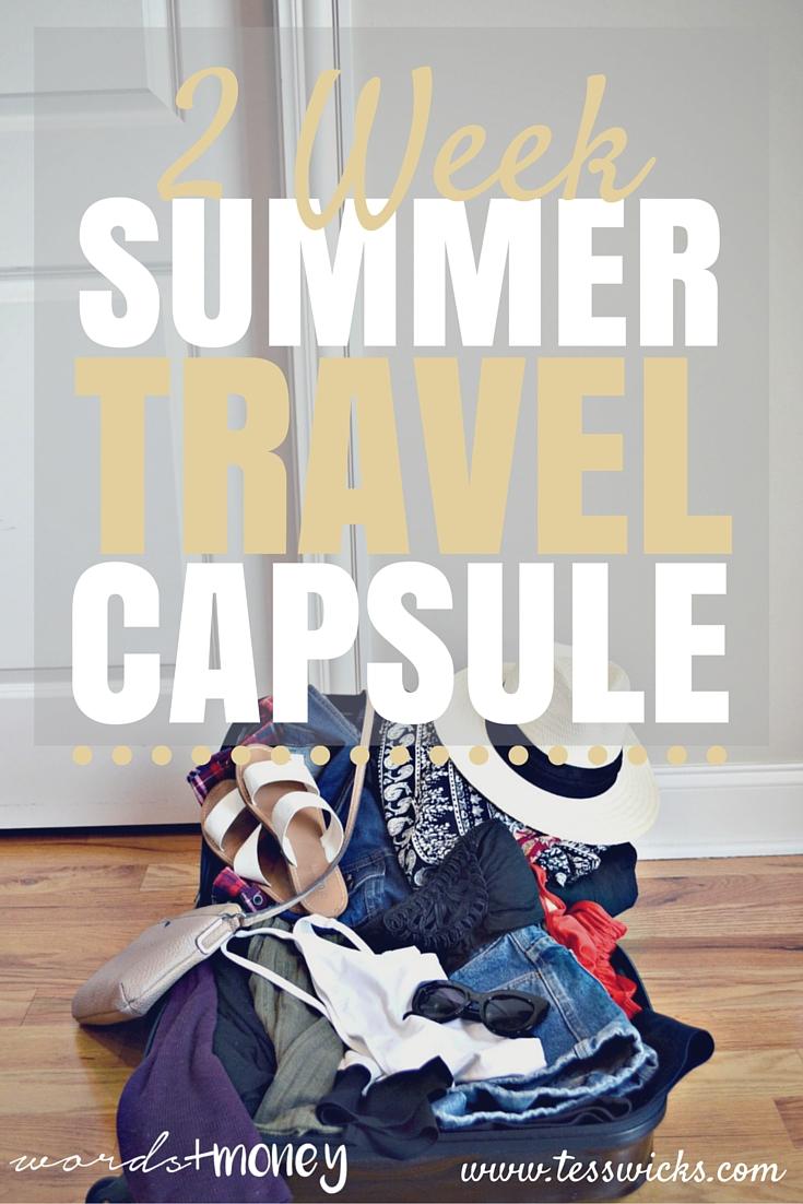 2 Week Summer Travel Capsule Wardrobe Tess Wicks