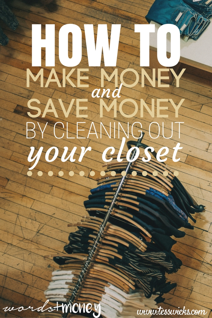 Learn how to make and save hundreds of dollars by cleaning out your closet.