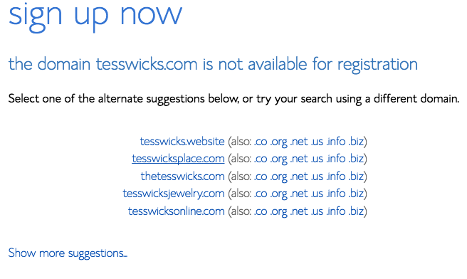 Domain is not available