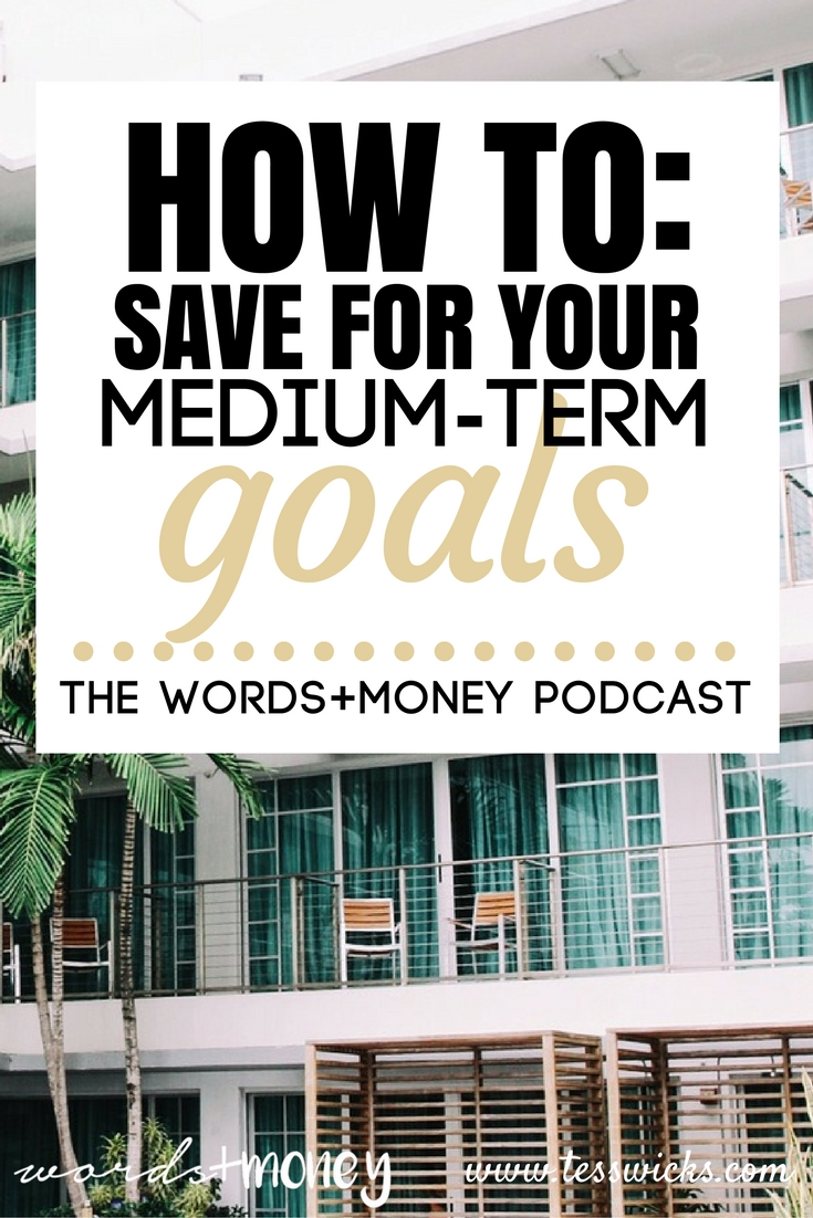 How to Save for Your Mid-Term Money Goals - Such a helpful resource for learning how to save for those tricky medium-term money goals that require unique saving and investment strategies. - Pin this one for those big goals!