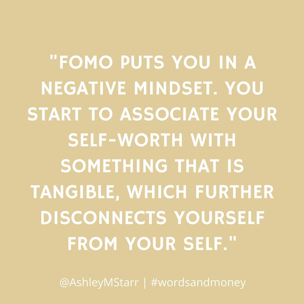 FOMO, Self-Love, and Money with Ashley Starr on the Words and Money Podcast