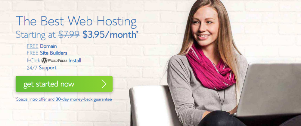 1-Day FLASH SALE $2.95/month for a year of website hosting through my Bluehost link! Click the image.