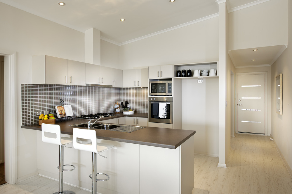 Kitchen cupboards in the Echo Beach design