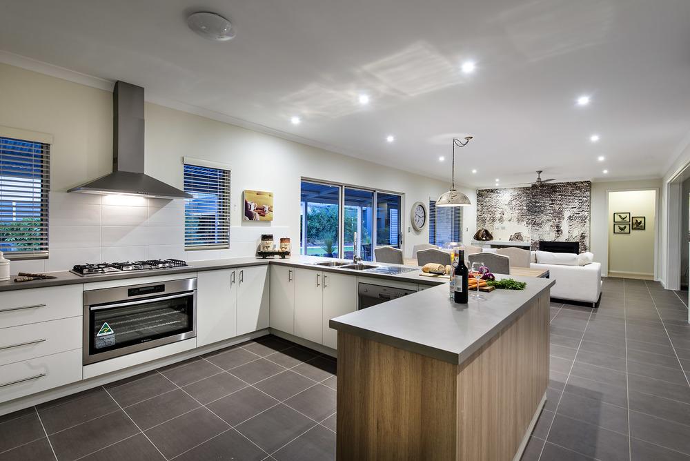 Easy clean tiled floors in The Grange design.